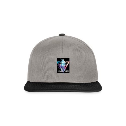 keep calm and be a unicorn - Snapback Cap