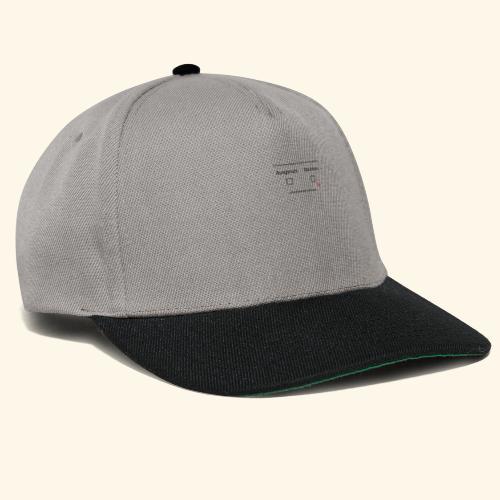 ausgeruht und nuechtern - Snapback Cap