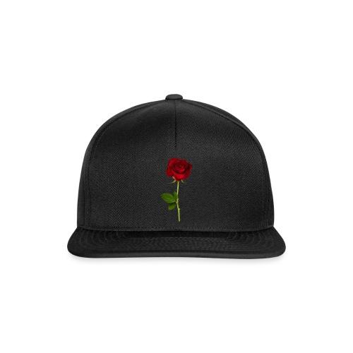 Rød Rose - Snapback Cap
