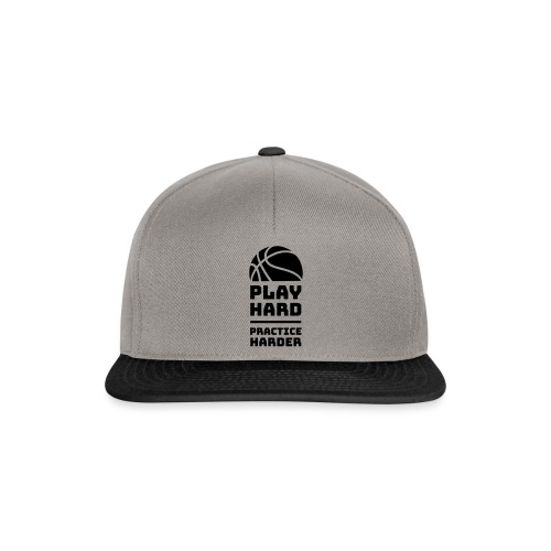 Play hard, practice harder - Czapka typu snapback