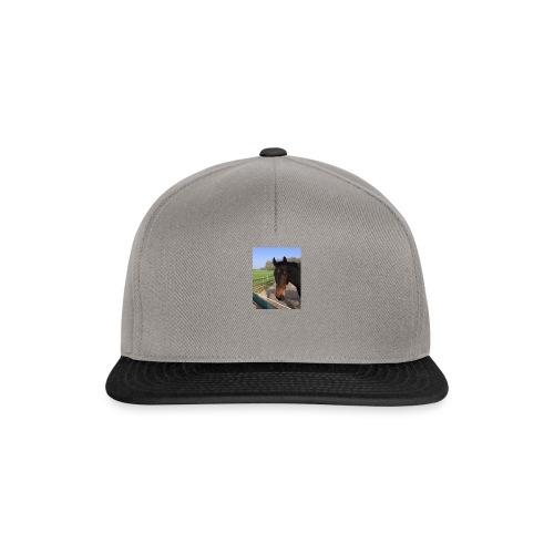 Met bruin paard bedrukt - Snapback cap