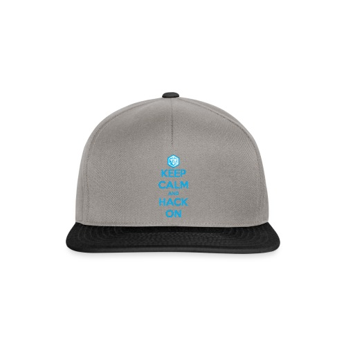 keep calm and hack on - Snapback Cap