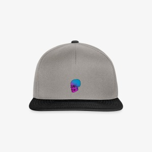 Pink and blue Skull! - Snapback Cap