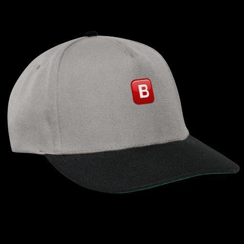 ios emoji negative squared latin capital letter b - Snapback Cap