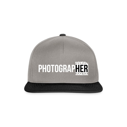 Photographing-her - Snapback Cap