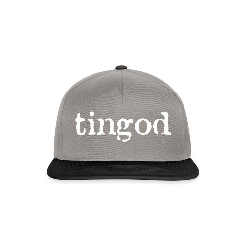 TINGOD logo white - Snapback Cap