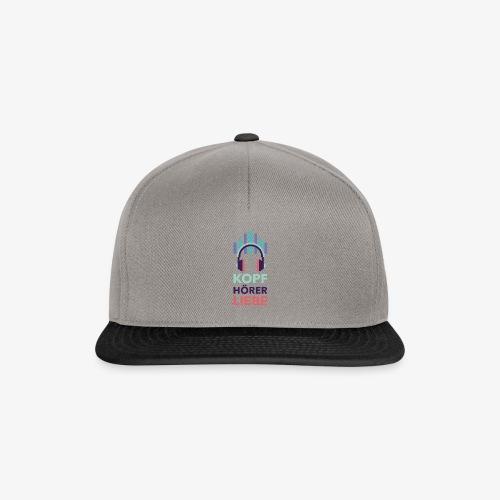 kopfhoererliebe bunt - Snapback Cap