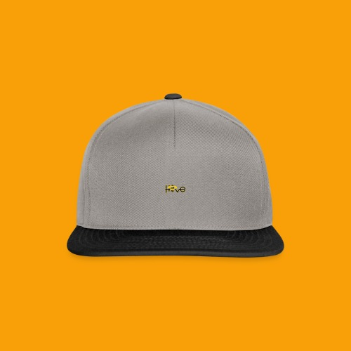 hive365 logo front and back and gold hoodie - Snapback Cap