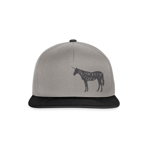 unicorn logo cut full color typo texture final eps - Snapback Cap