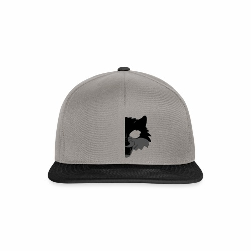 Wolf design swag black gray transparent - Casquette snapback