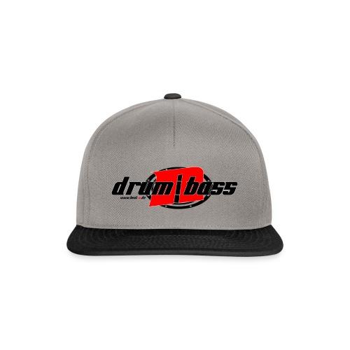 Drum´n Bass Logo Schwarz/Rot - Snapback Cap