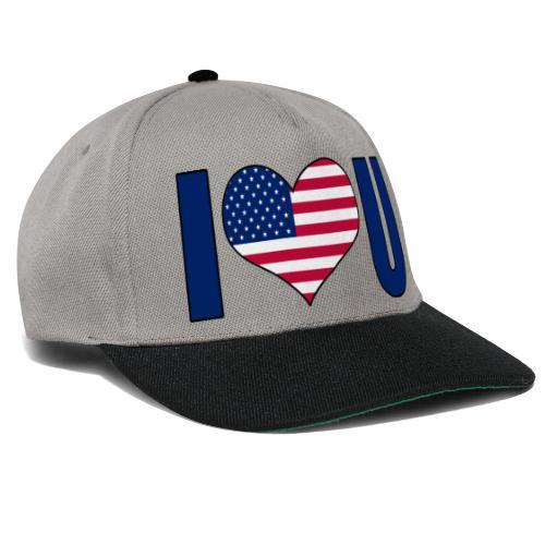 I love u USA - Snapback-caps