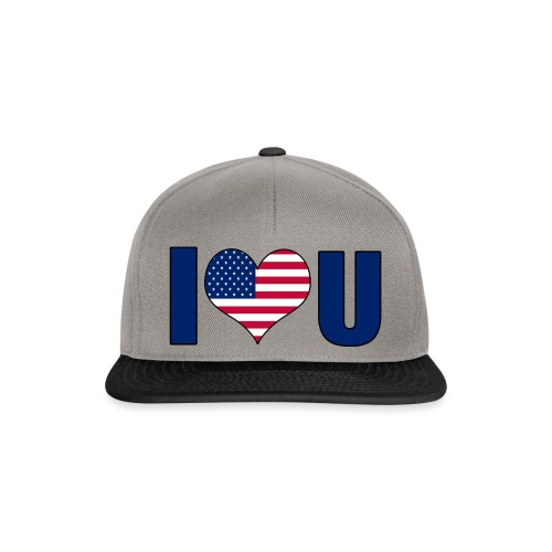 I love u USA - Snapback-caps