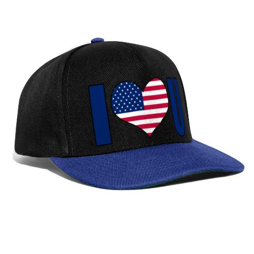 I love u USA - Snapback Cap