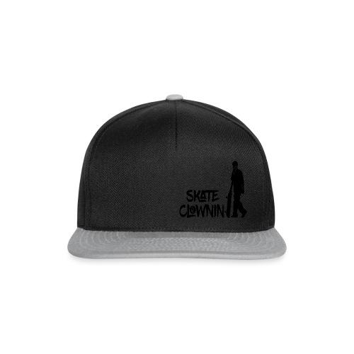 Skateclowninallblackno bg gif - Snapback Cap