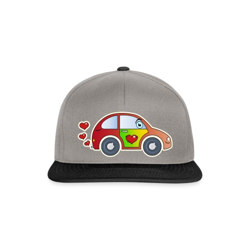 Kids Car Spielzeugauto Herzen bunt fröhlich Kinder - Snapback Cap