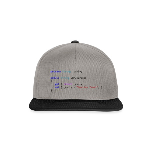 Curly Braces on New Line - Snapback Cap