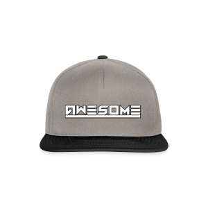 Awesome (White) - Snapback Cap