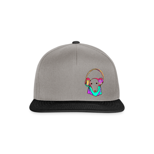 Ratte_mit_Kopfhoerer - Snapback Cap