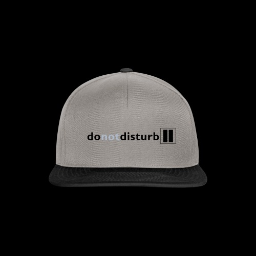 donotdisturb clothing range - Snapback Cap