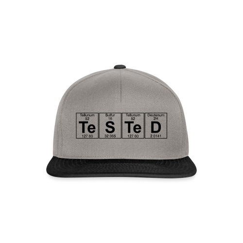 Te-S-Te-D (tested) (small) - Snapback Cap