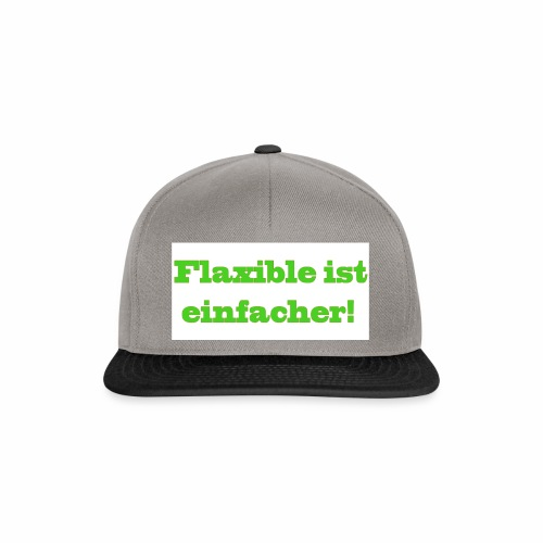 ,,Flaxible ist einfacher'' Kollektion - Snapback Cap