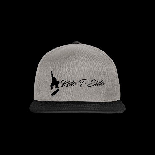 Ride T-Side - Skate Logo and Text - Black - Snapback Cap