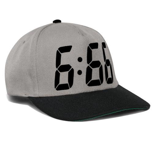 666 digital Uhrzeit - Snapback Cap