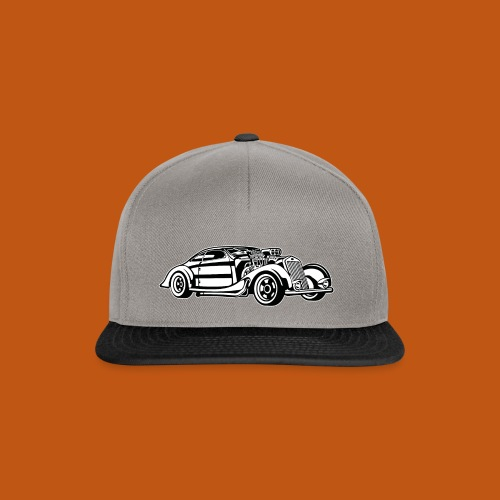 Hot Rod / Rad Rod 05_schwarz weiß - Snapback Cap
