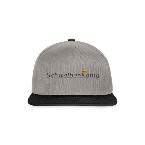 Schriftzug mit Krone SchwalbenKoenig - Snapback Cap