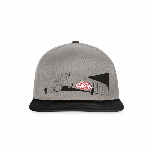 Throw up 2wear graffiti trains ver02 1 - Snapback Cap