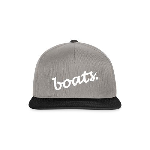 boats_typo_white - Snapback Cap