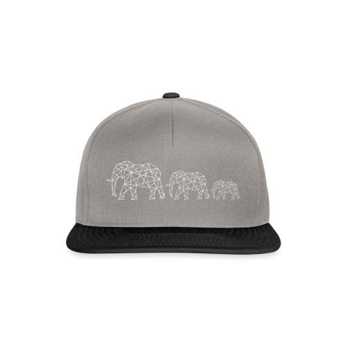 Geometrische Elefantenfamilie - Snapback Cap