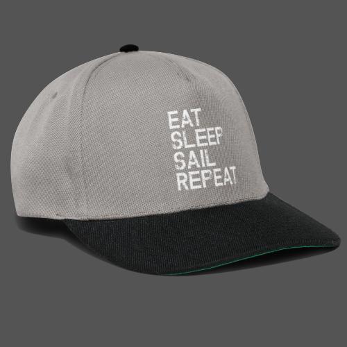 Segel T Shirt Eat Sleep Sail repeat grunge look - Snapback Cap