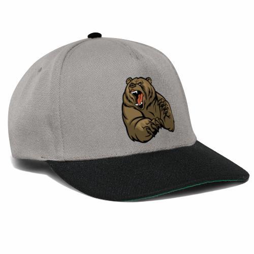 méchant grizzli - Casquette snapback