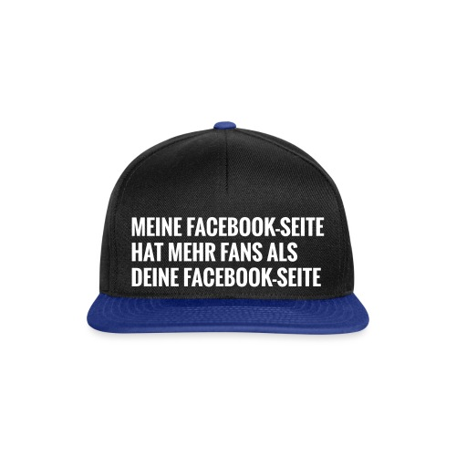 Facebook Vergleich - Snapback Cap