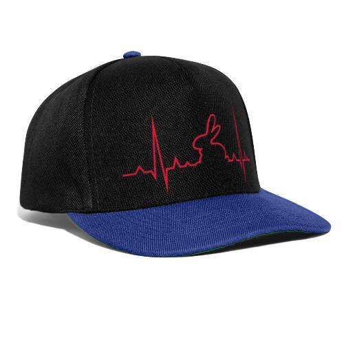 EKG Herzschlag Hase Kaninchen Zwergkaninchen - Snapback Cap