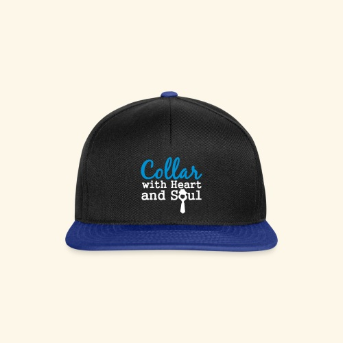 Collar with Heart Soul White Collar Shirts - Snapback Cap