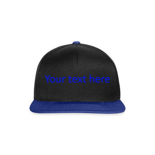 Your text here blauw - Snapback Cap