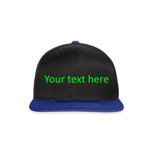 Your text here groen - Snapback Cap
