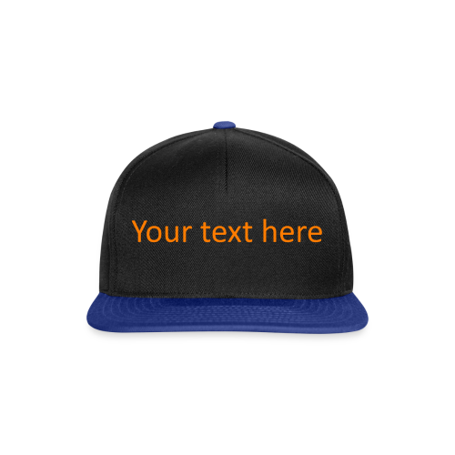 Your text here oranje - Snapback Cap