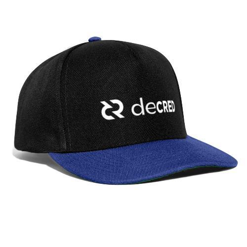 Decred logo horizontal white - Snapback cap