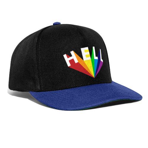 Hell Rainbow White - Snapback Cap