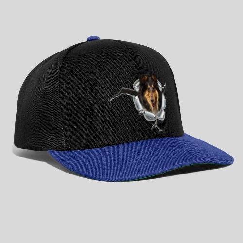 Collie Blue Merle im Metall-Loch - Snapback Cap
