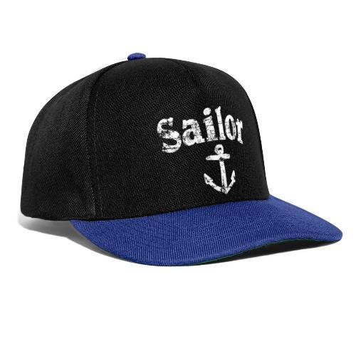 Sailor Anker Segeln Segel Segler (Vintage/Weiß) - Snapback Cap