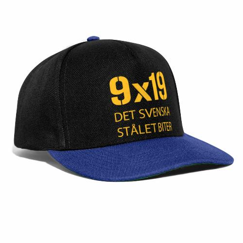 Det svenska stålet biter 9x19 - Snapbackkeps