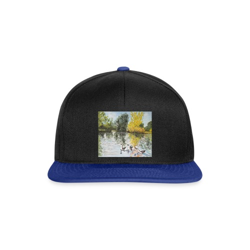 Geese on the lake - Snapback Cap