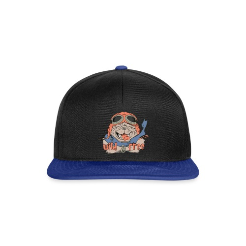 Wild & Free: Happy Pug Flier Freedom - Snapback Cap