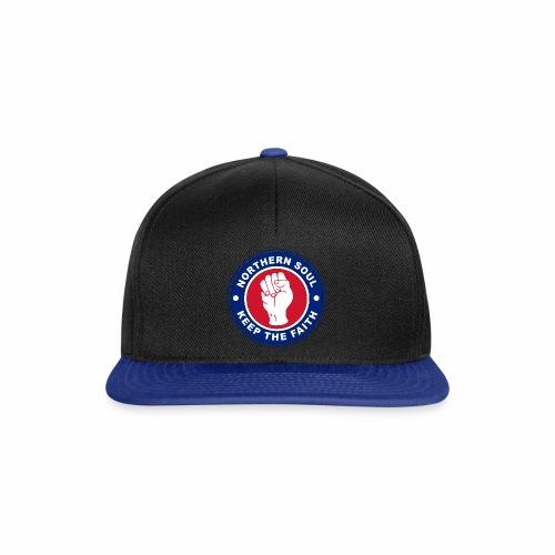Norther Soul Keep the Faith Logo Union Flag Colour - Snapback Cap