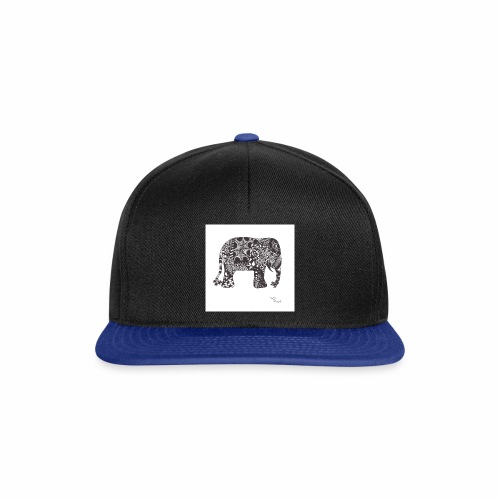 tangle-elephant print - Snapback Cap